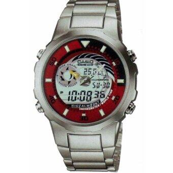 CASIO Analog Digital Mens Waterproof Watch with Silver Chain MRP-702D-7A5