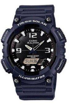 Casio นาฬิกาข้อมือผู้ชาย สายเรซิ่น รุ่น AQ-S810W-2A2V - สีน้ำเงินเข้ม