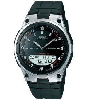Casio นาฬิกาข้อมือผู้ชายAW-80-1 (สีดำ)