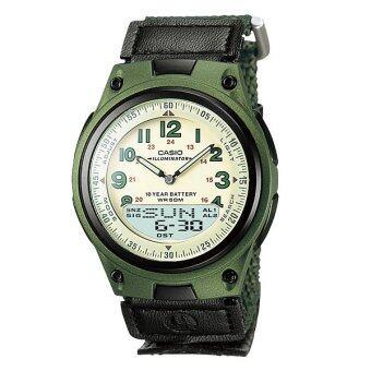 Casio นาฬิกาข้อมือ รุ่น AW-80V-3BV (Green)