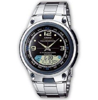Casio นาฬิกาข้อมือผู้ชาย AW-82D-1 (สีเงิน) ประกันศูนย์ 1 ปี