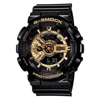 Casio Baby-G นาฬิกาข้อมือหญิง รุ่น BA-110-1ADR (สีดำ/ทอง)