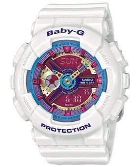 ต้องการขาย Casio Baby-G นาฬิกาข้อมือผู้หญิง สายเรซิ่น รุ่น BA-112-7A - สีขาว