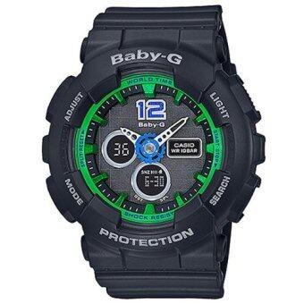 ประเทศไทย Casio Baby-G นาฬิกาข้อมือผู้หญิง สายเรซิ่น รุ่น BA-120-1B - สีดำ