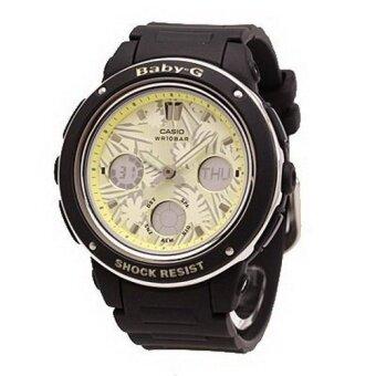 Casio Baby-G นาฬิกาข้อมือผู้หญิง สีดำ สายเรซิ่น รุ่น BGA-150F-1A