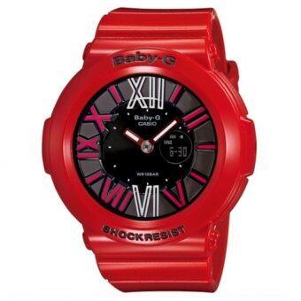 Casio Baby-G นาฬิกาข้อมือผู้หญิง สีแดง สายเรซิ่น รุ่น BGA-160-4B
