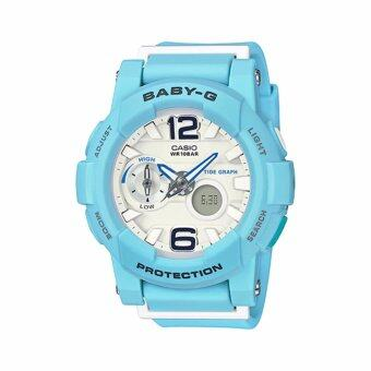 Casio Baby-G นาฬิกาข้อมือผู้หญิง สายเรซิ่น รุ่น BGA-180BE-2B