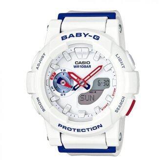 รีวิวพันทิป Casio Baby-G นาฬิกาข้อมือผู้หญิง สายเรซิ่น รุ่น BGA-185TR-7A - สีขาว