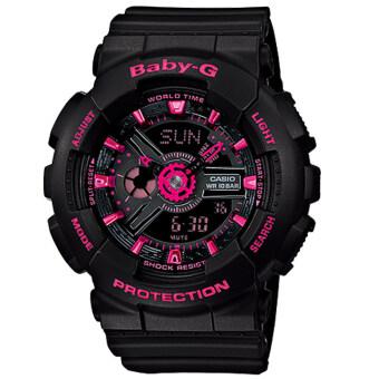 CASIO Baby-G นาฬิกาข้อมือผู้หญิง สีดำ สายเรซิ่น รุ่น BA-111-1ADR