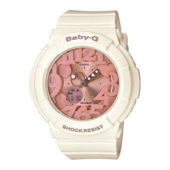 Casio Baby-G นาฬิกาข้อมือ รุ่น BGA-131-7B2 (White/Pink)