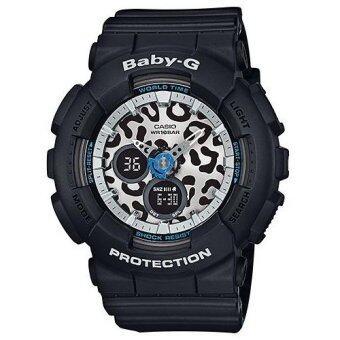Casio Baby-G นาฬิกาข้อมือ สีดำ/หน้าปัดลายเสือ สายเรซิ่น รุ่น BA-120LP-1A