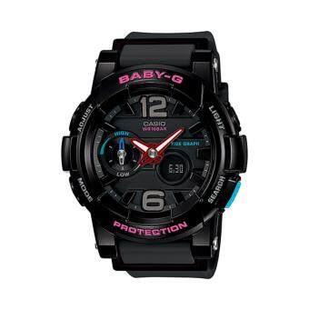 Casio Baby-G นาฬิกาข้อมือสุภาพสตรี รุ่น BGA-180-1B (สีดำ)