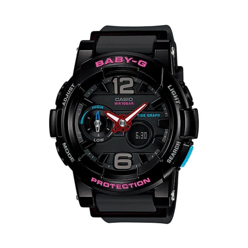 Casio Baby-G นาฬิกาข้อมือสุภาพสตรี รุ่น BGA-180-1B (สีดำ) ลดราคาล้างสต๊อก