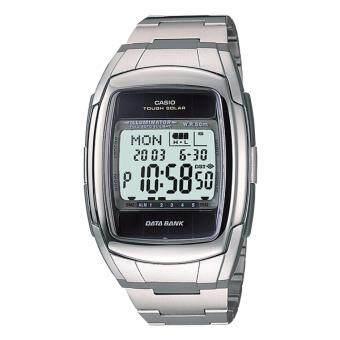 2561 Casio Data bank รุ่น DB-E30D-1A นาฬิกาข้อมือสำหรับผู้ชาย/ผู้หญิง สาย Stainless