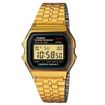จัดโปรโมชั่น CASIO นาฬิกาข้อมือ สีทอง ระบบ Digital ใส่ได้ทั้งผู้ชาย-ผู้หญิงA159WGEA-1DF (Gold)