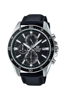 Casio Edifice Chronograph นาฬิกาข้อมือผู้ชาย สายหนังสีดำ รุ่น EFR-546L-1A - Black
