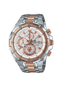 Casio Edifice นาฬิกาข้อมือชาย สายสแตนเลส รุ่น EFR-539SG-7A5 - Silver/Pinkgold