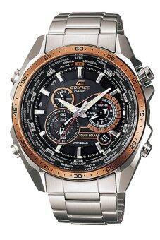 ประเทศไทย CASIO นาฬิกาผู้ชาย สีเงิน สายสแตนเลส รุ่น EQS-500DB-1A2DR