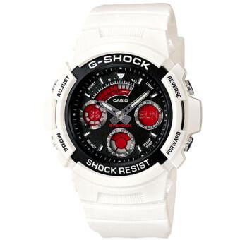 ราคา Casio G-Shock นาฬิกาข้อมือผู้ชาย สายเรซิ่น รุ่น AW-591SC-7A - สีขาว