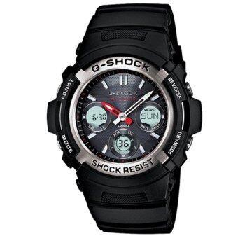 Casio G-Shock นาฬิกาข้อมือผู้ชาย สายเรซิ่น รุ่น AWG-M100-1A - สีดำ