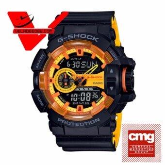 Casio G-shock (ประกันCMG) นาฬิกาข้อมือชาย 2 ระบบ สายเรซิ่น รุ่น GA-400BY-1A