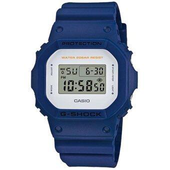 Casio G Shock นาฬิกาข้อมือผู้ชาย สายเรซิ่น รุ่น DW 5600M 2 สีน้ำเงิน