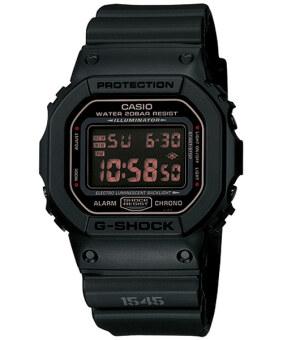 2561 Casio G-Shock นาฬิกาข้อมือผู้ชาย สายเรซิ่น รุ่น DW-5600MS-1DR-สีดำ