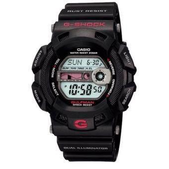 ราคา Casio G-Shock นาฬิกาข้อมือชาย สายเรซิ่น รุ่น G-9100-1DR - Black