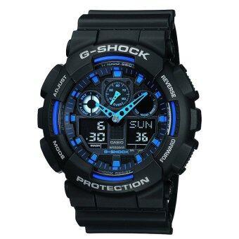 Casio G-Shock นาฬิกาข้อมือผู้ชาย สายเรซิ่น รุ่น Ga-100-1A2Dr(Black)