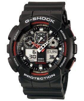 Casio G-Shock นาฬิกาข้อมือผู้ชาย สายเรซิน รุ่น GA-100-1A4DR - สีดำ