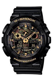 Casio G-Shockนาฬิกาข้อมือผู้ชาย สีดำ สายเรซิ่น รุ่นGA-100CF-1A9 ประกันCMG