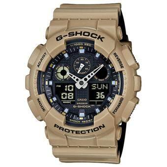 CASIO G-SHOCK รุ่น GA-100L-8ADR (CMG) นาฬิกาข้อมือ สายเรซิ่น สีกากี