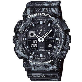 Casio G-Shock นาฬิกาข้อมือผู้ชาย สายเรซิ่น รุ่น GA-100MRB-1A - สีดำ