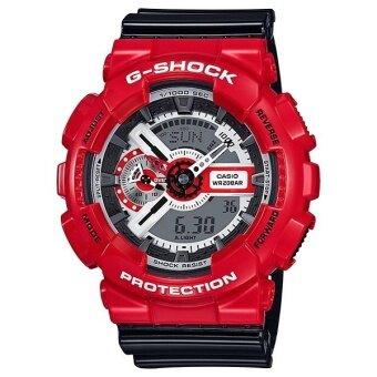 Casio G-Shock สายเรซิ่น GA-110RD-4ADR (สีแดงดำ)