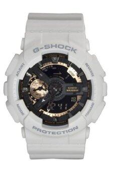 ราคา CASIO G Shock นาฬิกาข้อมือผู้ชาย สายเรซิ่น รุ่น GA-110RG-7ADR - White