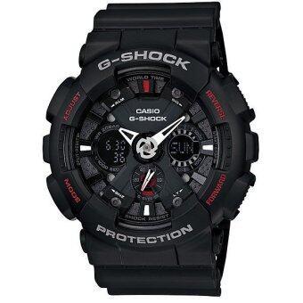 Casio G-shock นาฬิกาข้อมือผู้ชาย สีดำ สายเรซิ่น รุ่น GA-120-1ADR (ประกัน cmg)