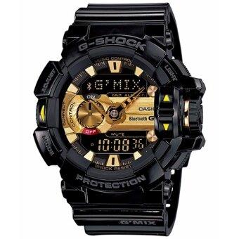 Casio G-shock นาฬิกาข้อมือเชื่อมต่อบลูทูธ รุ่น GBA-400-1A9DR (สีดำ/ทอง)