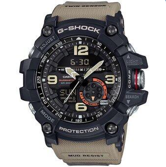 Casio G-Shock นาฬิกาข้อมือผู้ชาย สีดำ/น้ำตาล สายเรซิ่น รุ่นGg-1000-1A5Dr