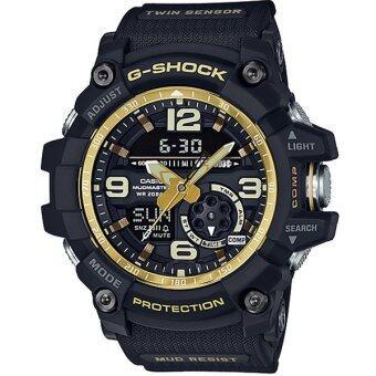 Casio G-Shock นาฬิกาข้อมือผู้ชาย สายเรซิ่น รุ่น GG-1000GB-1A - สีดำ/ทอง