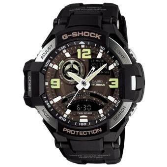 Casio G-Shock Gravity Master นาฬิกาข้อมือสุภาพบุรุษ รุ่น GA-1000-1B (สีดำ/สีน้ำตาล)