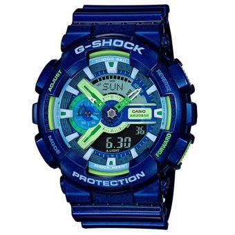 Casio G-Shock นาฬิกาข้อมือผู้ชาย Limited Multi Color รุ่นGA-110MC-2A สีน้ำเงิน