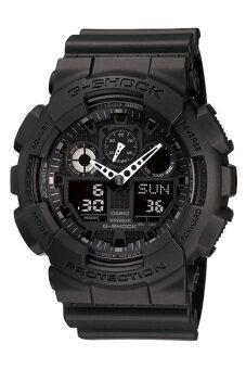 Casio G-Shock Men's Black Resin Strap Watch GA-100-1A1