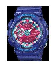 Casio G-Shock Mini นาฬิกาข้อมือผู้หญิง สีดำ สายเรซิ่น รุ่น GMA-S110HC-2A