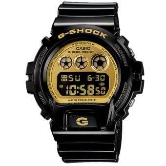 Casio G-Shock นาฬิกาข้อมือผู้ชาย สายเรซิ่น รุ่น DW-6900CB-1 - สีดำ/ทอง