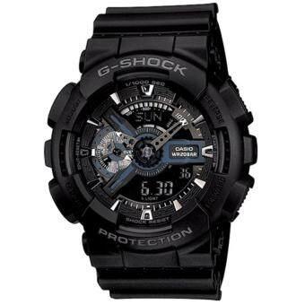 Casio G-Shock นาฬิกาข้อมือผู้ชาย สายเรซิ่น รุ่น GA-110-1B - สีดำ