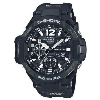 Casio G-Shock นาฬิกาข้อมือผู้ชาย สายเรซิ่น รุ่น GA-1100-1A - สีดำ