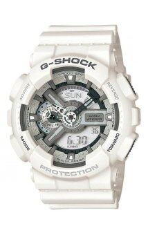 Casio G-shockนาฬิกาข้อมือผู้ชาย สายเรซิน รุ่น GA-110C-7A- สีขาว