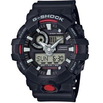 Casio G-Shock นาฬิกาข้อมือผู้ชาย สายเรซิ่น รุ่น GA-700-1A - สีดำ(Black)