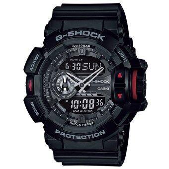Casio G-Shock นาฬิกาข้อมือผู้ชาย สีดำ สายเรซิ่น รุ่น GA-400-1B