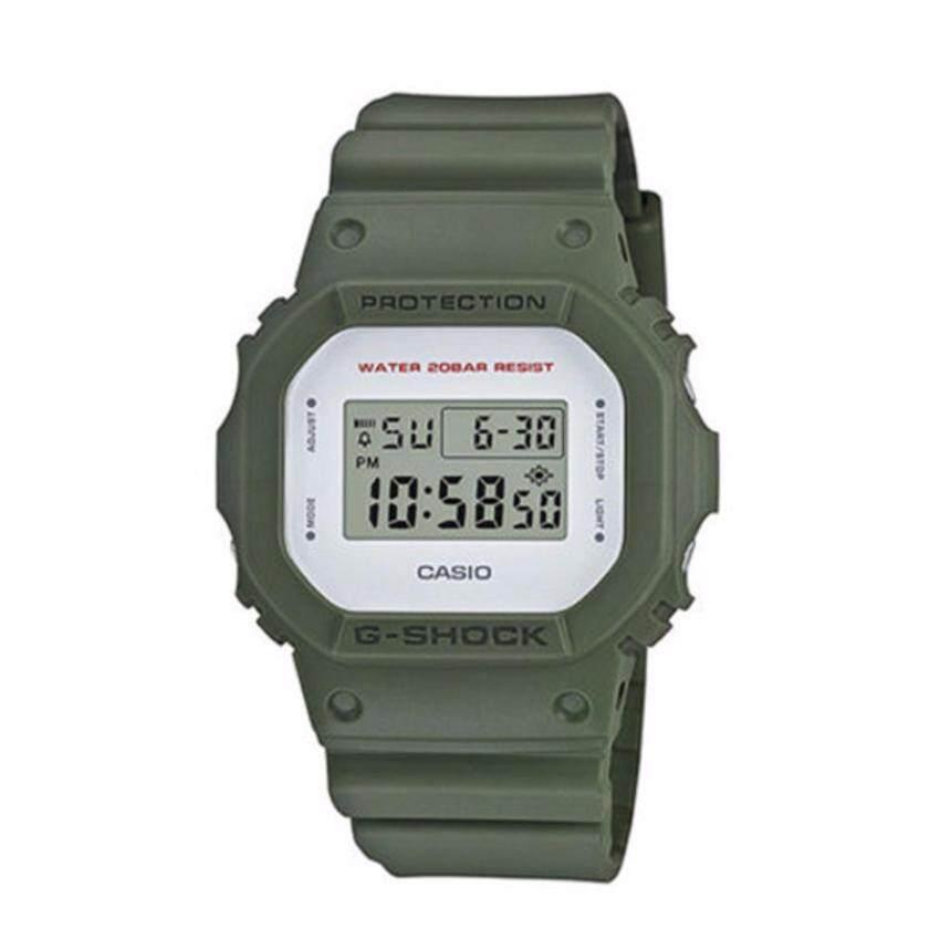 Casio G-Shock นาฬิกาข้อมือผู้ชาย สีเขียว สายเรซิ่น รุ่น DW-5600M-3 สำหรับคนที่ไม่รู้จะหาซื้อที่ไหน